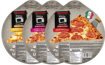 Tiefgekühlte Pizzas im Format - 25 cm Mikro