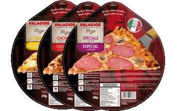 Tiefgekühlte Pizzas im Standardformat - 27 cm