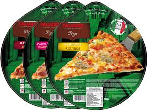 Tiefgekühlte Pizzas im Familienformat - 32 cm