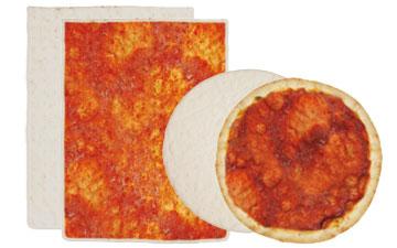 Tiefgefrorene Pizzaböden