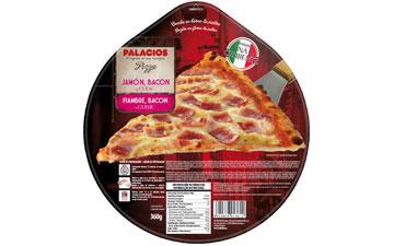 Pizza Schinken, Speck, Käse