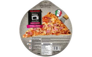 Pizza Schinken und Käse